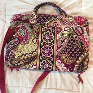 Vera Bradley Pink Paisely Computer Bag Tote